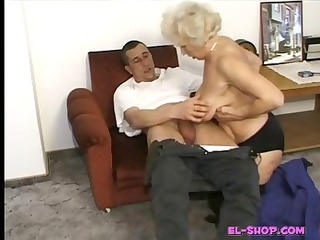 shaggy elderly norma pissing