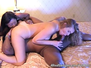 woman takes awesome mixed swinger sex!