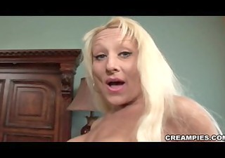 blonde cougar creampie