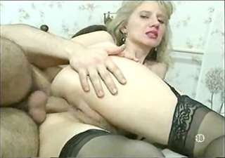 blonde lady in stockings