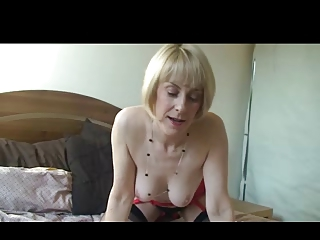 pale woman on the berth inside nylons