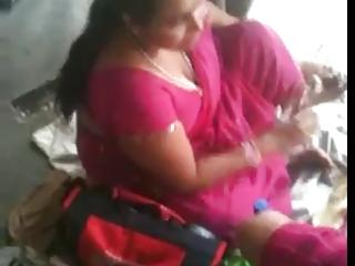 desperate indian lady on a train station 2 (o) (o)