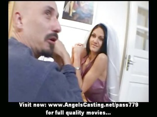 amazing brunette bride doing dick sucking