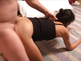 little doll mexican old obtains anal banged