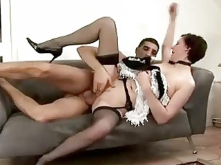 grownup maid acquires spanked by guy