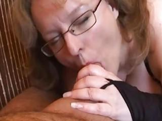 busty inexperienced housewife handjob and dick