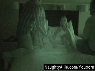 foursome on night vision cam  housewife swapping