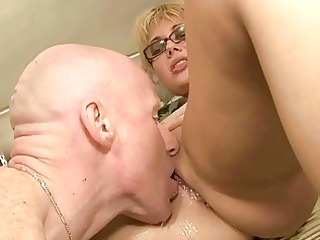 mature duo pissing and banging