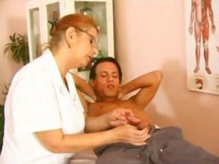 older  doctor bang with amateur patient