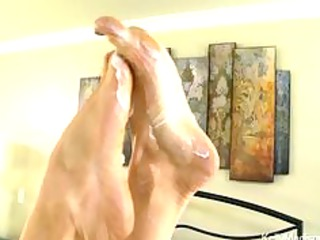 super boobed maiden gives a fantastic footjob