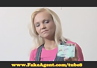 fakeagent aged golden-haired does anal in casting