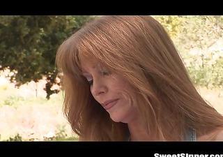 hot redhead milf fucked outdoors