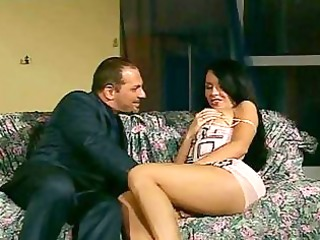 hot ass milf brunette into high heels takes her
