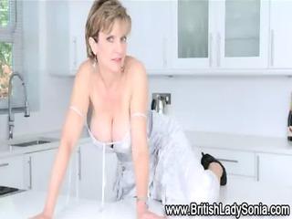 mature femdom brit posing and excercising