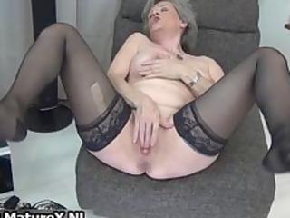 sexy elderly inside black nylons loves part5