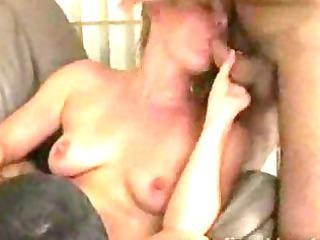 young albino woman mouth