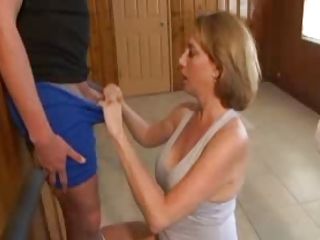 older  handjob with surprising cum 1