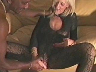 cougar chick gangbanged by ebony fucker