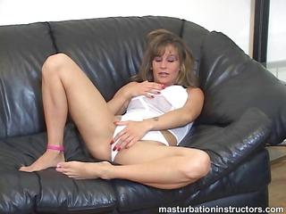 jerk off teacher spreads her legs and starts
