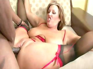 cougar having interracial porn with her friend