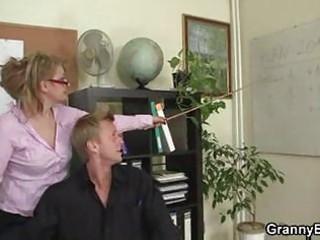cougar bureau boss forces him copulate her uneasy