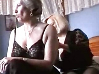 two grannies tease into panties and nylons