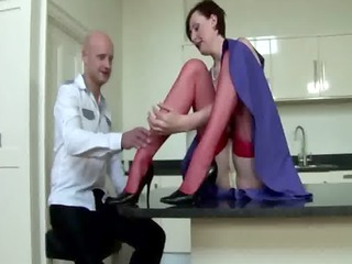 cougar stockings takes her grownup pussy fingered