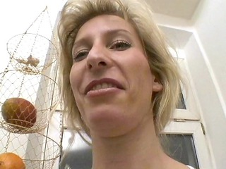milfy german albino shaves and enjoys - sascha