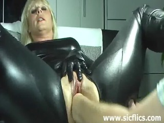 blonde maiden violently fisted inside her loose