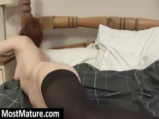 cougar slut pierce a giant dildo