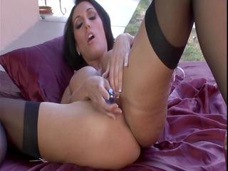 lady mastrubate into black nylons