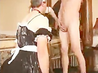 sissy lover licks dick for lady bdsm bondage