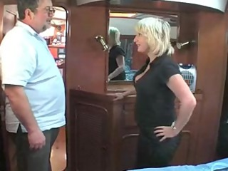 elderly british golden-haired fucking om a boat