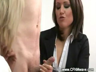 cfnm agency jerkoff session with hot milfs