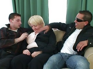 two men copulate totally naughty elderly