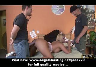gorgeous blond amateur mamma having gangbang sex