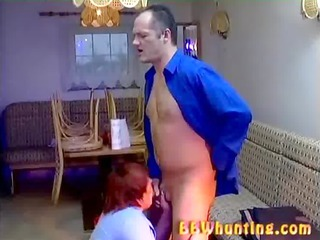 chubby grownup giving hot blowjob