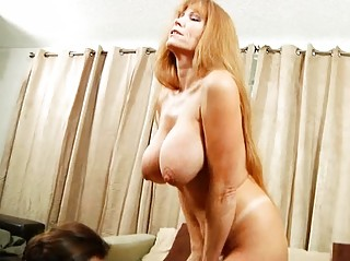 giant horny mature babe obtains titty drilled