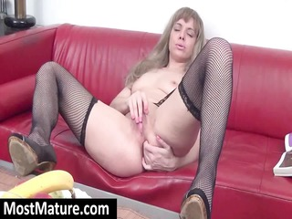 young pale lady obtains horny and masturbates on