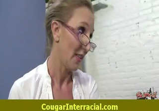 hard interracial sex with a super sexy cougar