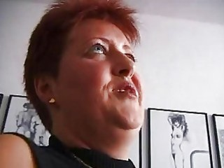 busty redhaired cougar german