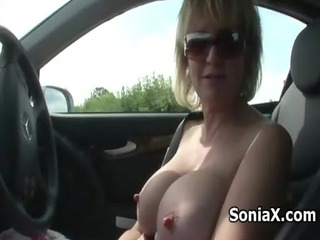 blonde mature exposes extremely impressive assets