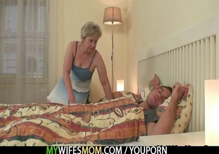 she is bonks her son in law as he is sleeps