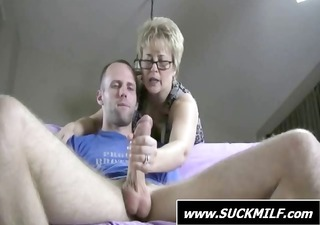 blond milf give this dude with a large wang and