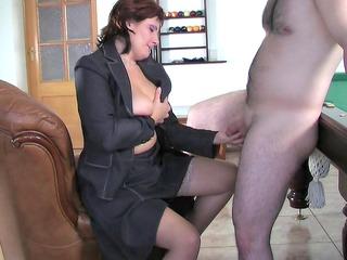 russian mom viola fucks young male