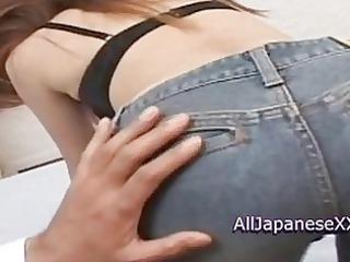 asian sweetheart milf obtaining covered inside