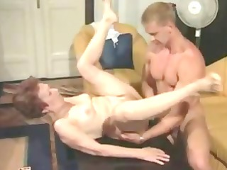 old susanne drains muscle guy