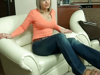 older  stockings footjob 2