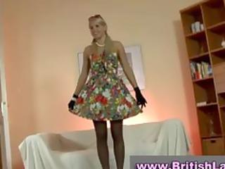 older british girl dresses blonde inside