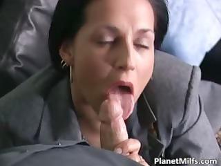 brunette woman inside stockings loves part3
